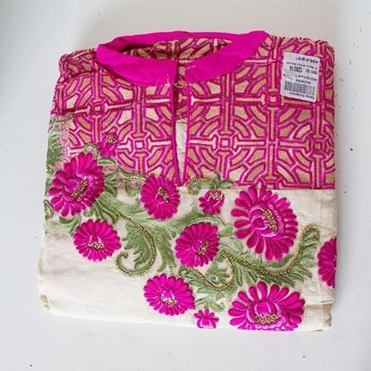 Pink and Flower Kurti Suits
