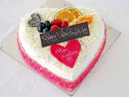 Heart Shaped Whtie Forest cake