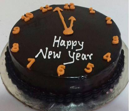 Chocolate New Year Cake